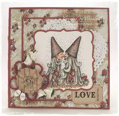 Card by LLC DT Member Elizabeth Elton Hagen, using a stamp from Vilda Stamps and a paper from Landstoken.