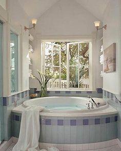 Spa Escape - I love the tiles around this bath
