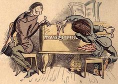 Wilhelm Busch: The Virtuoso (1865): IX. Capriccioso