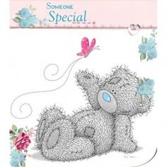 Wording Inside reads: With Love Me to You Bears, also known as the Tatty Teddy is the famous grey bear with the blue nose and patches. Teddy Bear Tattoos, Teddy Bear With Heart, Nurse Art, Teddy Bear Pictures, Blue Nose Friends, Bear Card, Bear Illustration, Bear Wallpaper, Tatty Teddy