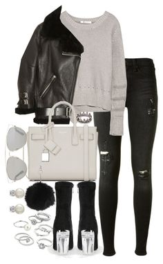 """""""Untitled #147"""" by marinas-clothes ❤ liked on Polyvore featuring rag & bone, T By Alexander Wang, Acne Studios, Yves Saint Laurent, Topshop, Candie's, Christian Dior, Lauren Ralph Lauren and Loree Rodkin"""