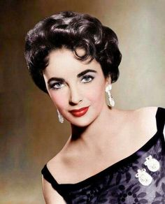 Liz Taylor, beautiful color photo of her, See the source image