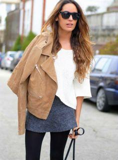 Peccary biker jacket by Mango Mango Fashion, Work Fashion, Fashion Outfits, Fashion Ideas, Mango Looks, Origami Skirt, Style And Grace, My Style, Mango Clothing
