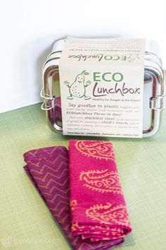 Eco Friendly Bento Lunchbox and napkins– Eco Lunchboxes