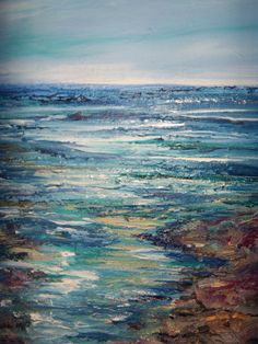 Original Acrylic Canvas Seascape Painting by Sheri 20x24x1