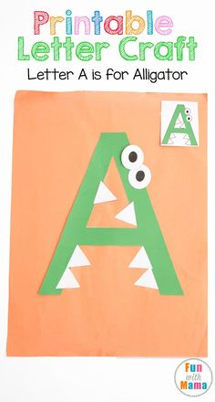 These free printable letter a crafts and activities for preschool, toddler, prek and kindergarten kids works on fine motor skills, visual perception and hand eye coordination. Add these to your letter of the week currriculum. Hands on learning is fun for kids and students! via @funwithmama