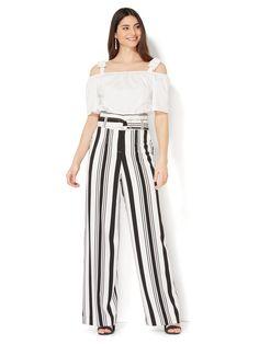 Striped Pants, Black White, Model, Fashion, Black And White, Moda, Stripped Pants, Black N White