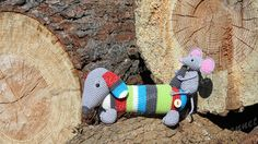 Teckel Tom met vriendje Mickey! Dachshund Tom & mouse Mickey!  Amigurumi