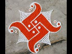 2x2 स्वस्तिक रंगोली/ Swastik Rangoli, हर अवसर के लिए सरल सुंदर स्वस्तिक रंगोली - YouTube Easy Rangoli Designs Videos, Easy Rangoli Designs Diwali, Indian Rangoli Designs, Simple Rangoli Designs Images, Rangoli Designs Latest, Rangoli Designs Flower, Free Hand Rangoli Design, Rangoli Border Designs, Small Rangoli Design