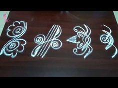 Rangoli Side Designs, Simple Rangoli Border Designs, Free Hand Rangoli Design, Rangoli Borders, Small Rangoli Design, Rangoli Designs Images, Rangoli Ideas, Rangoli Designs With Dots, Rangoli Designs Diwali