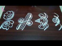 Rangoli Side Designs, Simple Rangoli Border Designs, Rangoli Simple, Boarder Designs, Rangoli Borders, Free Hand Rangoli Design, Small Rangoli Design, Rangoli Ideas, Rangoli Designs With Dots