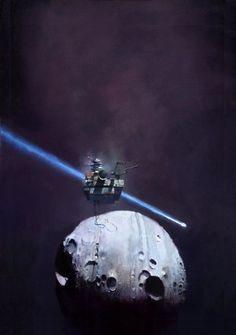 Earth Unaware — Art by John Harris - used for the Orson Scott Card book of the same name. John John, Fantasy Concept Art, Fantasy Art, Space Fantasy, Fantasy Paintings, Aliens, Sci Fi Kunst, Science Fiction Kunst, Arte Sci Fi
