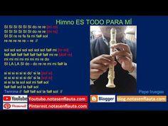 Himno ES TODO PARA MÍ Notas para Flauta Instagram, Flute, Report Cards, Sweet