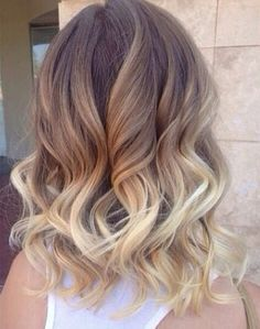 I love ombre with short hair!