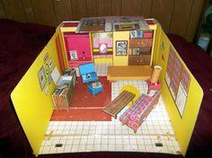 "Original 1962 ""Barbie Dream House"" Teenage Fashion with Furniture  Fold Up House…"