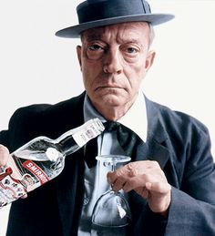 Buster Keaton for Smirnoff Vodka. Photographed by Bert Stern.