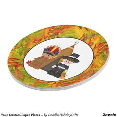 """Your Custom Paper Plates 9"""" Thanksgiving 9 Inch Paper Plate"""