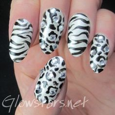 The Digit-al Dozen Does Black n White: And everyone's tied to their thing... A manicure using Sally Hansen White Tip, A England Morgan Le Fe...