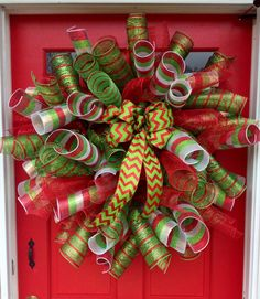 A Very Merry Christmas Wreath on Etsy, $60.00