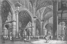Basilica of Maxentius and Constantine. Artist conception drawing of the ancient original. Roman Architecture, Architecture Drawings, Historical Architecture, Ancient Rome, Ancient Greek, Roman Republic, Roman City, Vaulting, Roman Empire