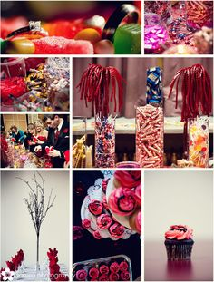 Candy bar, candy centerpieces
