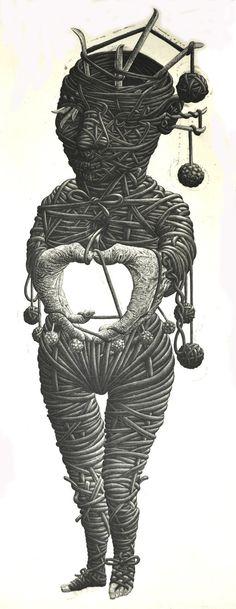 knitting emptiness via Etsy  Tomiyuki Sakuta