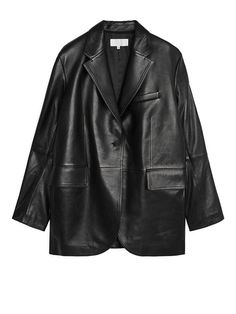 Shop for Arket Oversized Leather Blazer at ShopStyle. Mode Kpop, Black Blazers, Mode Style, Edgy Style, Curvy Style, Who What Wear, Clothing Items, Aesthetic Clothes, Timeless Fashion