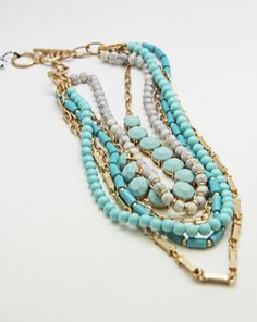 My June Stitch Fix Review - BAY TO BAUBLES SANTANA LAYERED BEADED NECKLACE - Rhapsody in Rooms