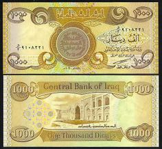 Here Are Our Rates For 1000s Iqd Iraqi Dinar Denomination 1 Million Dinars Unc