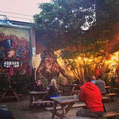 bluebell & bumpkin: Leytonstone pub garden East London, Interiors, Garden, Painting, Art, Art Background, Garten, Lawn And Garden, Painting Art