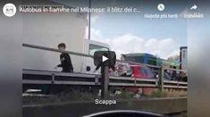 """Autobus in fiamme nel Milanese: il blitz dei Carabinieri per salvare i bambini - VIDEO AUTOBUS IN FIAMME NEL MILANESE, IL BLITZ DEI CARABINIERI PER SALVARE I BAMBINI: paura a San Donato Milanese, dove un 47enne di origini senegalesi ha sequestrato un bus carico di studenti per poi dargli fuoco. L'uomo, italiano dal 2004, ha minacciato di suicidarsi per """"fermare le morti nel Mediterraneo"""". Fondamentale l'intervento delle gazzelle dei carabinieri. Sul posto arrivano le stazioni Milanesa, Video, The Row, Gym, Work Out, Gym Room"""