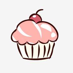 Food Elements Hand Drawn Cute Cartoon Dessert Cake Vector and PNG Baking Logo Design, Cake Logo Design, Cupcake Logo, Cupcake Art, Logo Doce, Food Cartoon, Cartoon Cakes, Ice Cream Cartoon, Cupcake Illustration