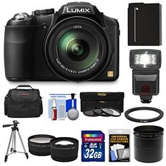 Panasonic Lumix DMC-FZ200 Digital Camera with 32GB Card + Battery + Case + Flash + Lens Set + Tripod + 3 Filters Kit  http://www.lookatcamera.com/panasonic-lumix-dmc-fz200-digital-camera-with-32gb-card-battery-case-flash-lens-set-tripod-3-filters-kit/