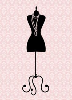 Maniquí Vintage Mannequin Art, Vintage Mannequin, Dress Form Mannequin, Costura Vintage, Leaves Wallpaper Iphone, Craft Room Signs, Thanksgiving Greeting Cards, Free Vector Illustration, Vintage Silhouette
