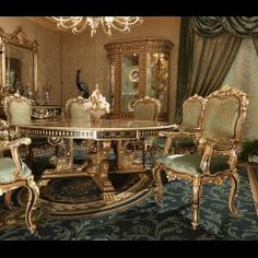 This stunning octagon foyer or center table from our King Louis Collection is hand crafted by artisans who are among the world's most talented in the modern world. The gold embellishments are brass with 24 carat gold plating