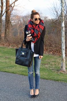 25 Reasons You Need an Oversized Plaid Scarf This Fall | StyleCaster