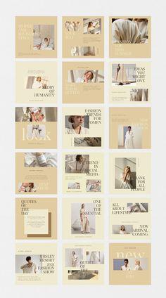 Instagram Feed Layout, Feeds Instagram, Instagram Grid, Instagram Post Template, Instagram Design, Instagram Posts, Social Media Design, Social Media Template, Presentation Design