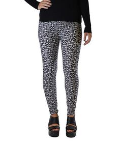 This Gray & Black Arabesque Brushed Leggings - Plus by Dinamit Jeans is perfect! #zulilyfinds