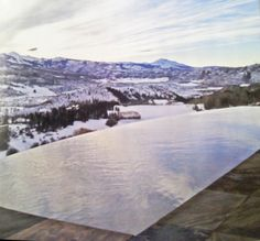 Amazing. I will need an infinity pool for my mountain home someday.  *Colorado Pool and Spa Scapes*