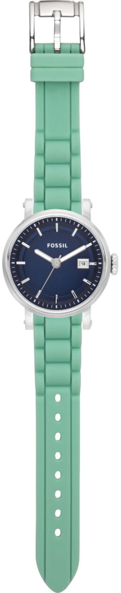 FOSSIL - blue watch face with teal (or white! interchangeable) band