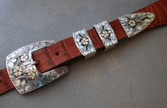 Classic Rose buckle set by Edward Baird for Seidel's Saddlery.  307-587-1200.  www.seidelsaddlery.com