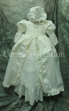 Christening Gown  Victorian Christening Gown  by CarmenCreation