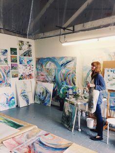 Studio visit with jenny vorwaller studio inspiration in 2019 Art Studio Room, Studio Spaces, Future Artist, Painters Studio, Muse Art, Art Model, Art Sketchbook, Art Studios, Artist At Work
