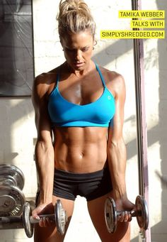 Tamika Webber workout- (chest/tris), (back/bis), (legs), (shoulders/abs)