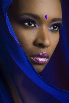 Ebony teen close up