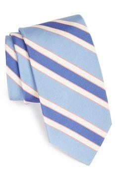 Peter Millar Stripe Woven Silk Tie | Nordstrom