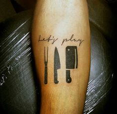 60 Culinary Tattoos For Men - Cooking Ink Ideas - Lets Play With Culinary Tools Tattoo Male Forearms You are in the right place about 60 Culinary Tatt - Hand Tattoos, Forearm Tattoos, Finger Tattoos, Sleeve Tattoos, Trendy Tattoos, Small Tattoos, Tattoos For Women, Tattoos For Guys, Cool Tattoos