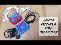 How to crochet a simple cord organizer?How to Crochet Mobile Cell Phone Pouch for iPhone Samsung - Crochet Ideas Crochet Cord, Love Crochet, Crochet Gifts, Learn To Crochet, Beautiful Crochet, Single Crochet, Crochet Designs, Crochet Patterns, Crochet Phone Cover