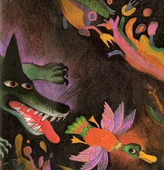 Peter and the Wolf, by Sergei Prokofiev, retold by Patricia Crampton, illustrated Josef Palecek (1987).