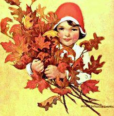 My Puzzles - Autumn Vintage & Modern - Autumn Leaves & Girl 1926 Autumn Leaves, Modern, Vintage, Trendy Tree, Fall Leaves, Autumn Leaf Color